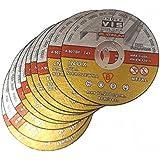 Metflex Lot de 10disques de découpe pour acier 125x 1,0mm T41Platinum