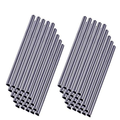 MCTECH 50 Stück Universal Befestigungsclips Klemmschienen für PVC Sichtschutzstreifen Grau