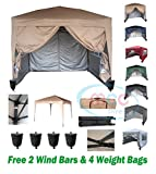 Mcc@home Premier 3x3m Waterproof Pop-up Gazebo with Silver Protective Layer Marquee Canopy (WS)
