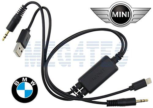 Generic Y-Kabel für BMW&Mini 3,5 mm USB AUX-IN-Anschluss für iPhone 5S/6S Ipod Nano Interface