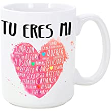 Taza para enamorados / San Valentín - Tú eres mi corazón - 350 ml - Tazas con frases de regalo para novios / novias