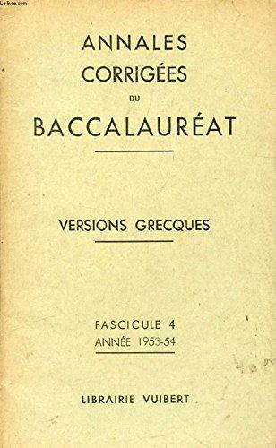 Annales corrigees du baccalaureat - espagnol - fascicule 7 annee 1952-53