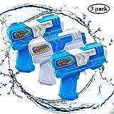 Yojoloin 3 Pack Water Blaster Super Pistola de Agua Soaker Squirt,sin Fugas de Agua Pistola de Agua en el Espacio Mini Pistola de Agua Pistola de Agua Pistola de Agua Pistola de Agua (Azul + Blanco)