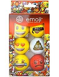 Oficial Emoji diseño divertido pelotas de golf, diseño divertido Emoji – 6 Pack