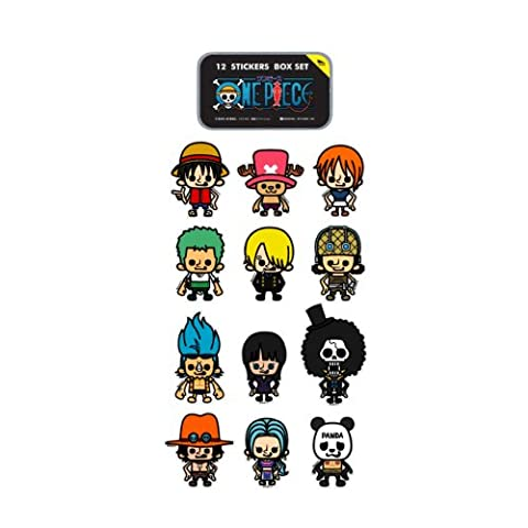 One piece x Panson Works mini sticker Complete Set (12 pieces) animated cartoon character STICKER mail order (japan import)