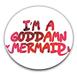 Kitchen & Housewares : I'm A Goddamn Mermaid Custom Stainless Coaster| Add A Stylish & Custom Protective Layer To Serve Coffee, Tea & Drinks On Your Tables| Premium Quality Serveware Accessories By Hamerson