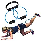 5BILLION Fasce per il bottino Fasce di resistenza - per un Bikini Butt Glutes Cintura muscolare Cintura regolabile con borsa per il trasporto e una guida completa all'allenamento(Blu)