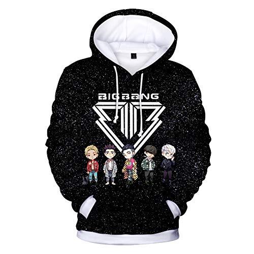 CTOOO 2018 Damen Herren 3D Bigbang Druck Kapuzenpullover Hoodies Sweatshirt Paar Kapuzenpulli Pullover Loose Fit XXS-XXXXL -
