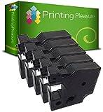 Printing Pleasure 5 x D1 45014 S0720540 Blau auf Weiß, Schriftband kompatibel für DymoLabelManager 160 210D 220P 260P 280 360D 420P 450D 500TS PnP & LabelPoint & LabelWriter 450 Duo | 12mm x 7m