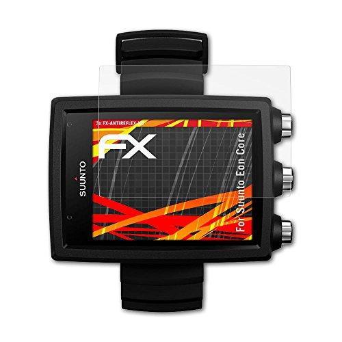 atFoliX Folie für Suunto Eon Core Displayschutzfolie - 3 x FX-Antireflex-HD hochauflösende entspiegelnde Schutzfolie