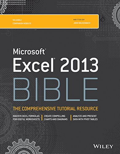 MICROSOFT EXCEL 2013 BIBLE par Walkenbach