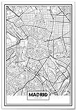 Panorama® Poster Karte von Madrid 50 x 70 cm | Gedruckt