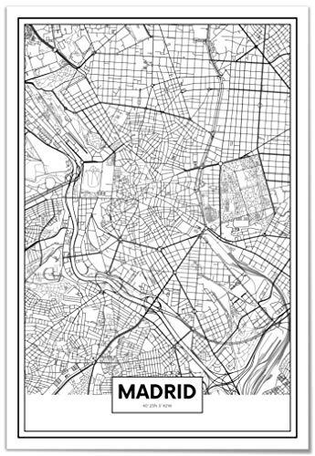 Panorama® Póster Mapa Madrid 21 x 30 cm | Impreso