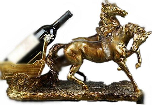 casier-a-vin-home-resin-wine-rack-europeens-classiques-chevaux-chariot-modelisation-holds-bouteilles