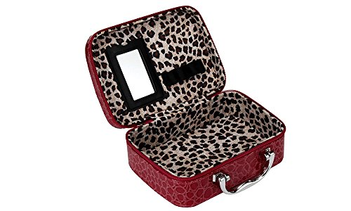 Krokodil Effekt Vanity Make Up Organizer Tasche Box – Make-up/Kosmetik/Nagellack Lagerung Fall rot rot (Rosa Griffe Vanity)