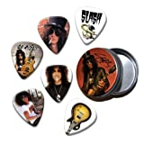 Slash Set of 6 Loose Guitar Médiators in Tin ( Collection C )