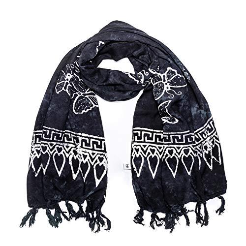 MANUMAR Damen Schal im Batik Loo...