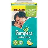 Pampers Baby Dry Größe 3 Midi 4-9kg Giga Pack, 3er Pack (3 x 136 Windeln)