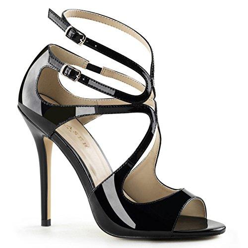 Heels-Perfect, Sandali donna Nero (Nero (nero))