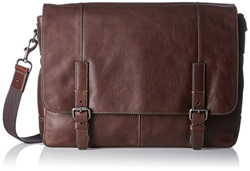 Bag Leder Messenger Fossil (Fossil Herren Graham Business Tasche, Braun (Dark Brown), 8.9x27.9x39.4 cm)