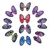 7Rainbow 10 Stück Ripsband Bänder Schmetterlings-Haarspange für Damen und Mädchen, Hochzeit, Dinner-Party, Haar-Clip, Spange, Accessoire(FS063-2)