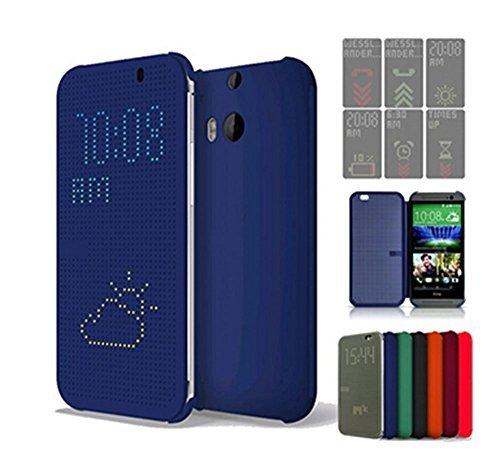 JOYOOO Dot View Case Hülle für HTC One M8 HC m100 (Htc M8 Dot View Case)