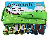 Achun Libri in stoffa per coccodrillo Baby Streak Piega Piega Book Puzzle Toys come regali per Boy & Girl