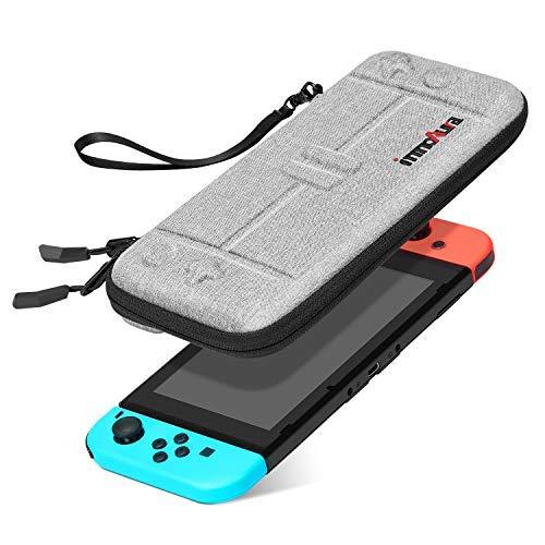 innoAura Tasche für Nintendo Switch Tragbares Hartschale Slim Travel Tragetasche passend zur Switch Konsole & 8 Game Steckmodule