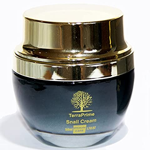 TerraPrime Snail Cream - Newly Developed Unique Formula With Snail Extract - Very Effective Anti-Aging, Anti-Wrinkle Day and Night Moisturising Cream -