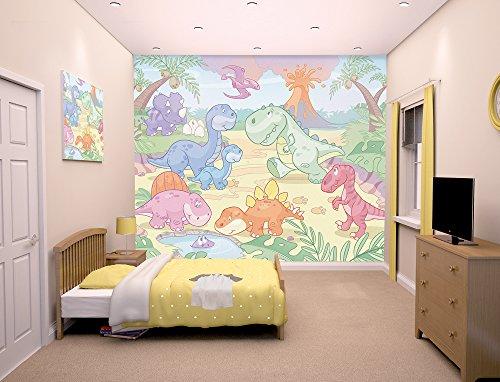 Walltastic - Papel Pintado para habitación Infantil, diseño de Dinosaurios