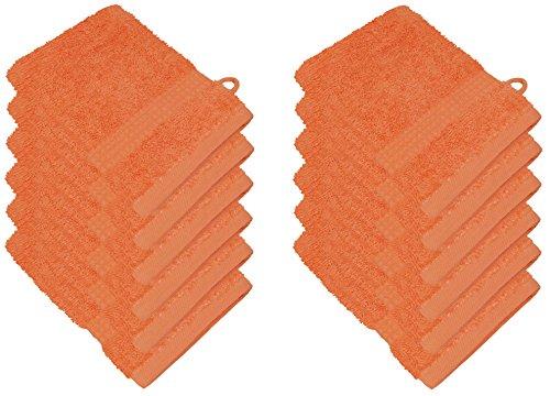 starlabels Serviettes Disponible en 15 couleurs et 5 dimensions doux saugstark 500 g/m², 100% coton, Öko Tex, Coton, Orange, 15 cm x 21 cm