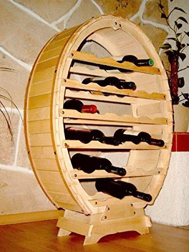 BOTELLERO MADERA 6-24BOTELLAS DE PIE/HäNGEND COLOR MARRON/NATURAL BARNIZADA