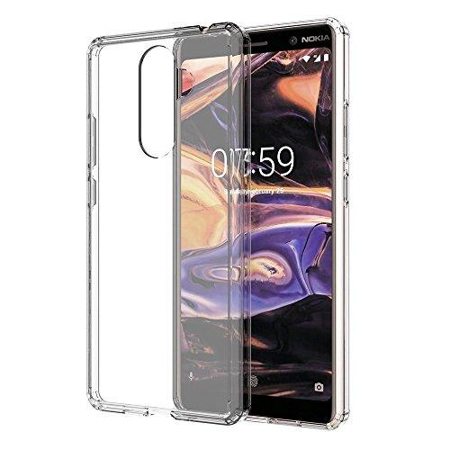 Crystal Skin Tpu Case (Nokia 8.1 Hülle, Nokia 8.1 Transparente Hülle, Nokia 8.1 Gelhülle, Nokia 8.1 Crystal Case, Weiche, Flexible dünne Gel TPU Skin Kratzfeste Schutzhülle für Nokia 8.1)