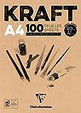 Clairefontaine 96545C Kraftpapier Block braun
