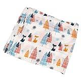 Cobeky Lange Cotton Nuovo - Fare sacco a pelo Swaddle coperta 110 cm x 110 cm? - volpe