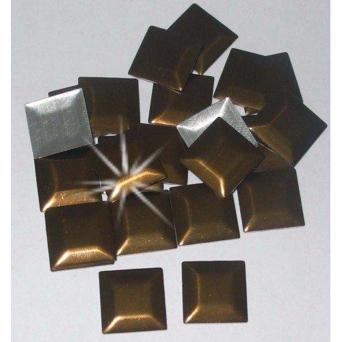 100 7 mm bronze brillant Dessus Plat Carré Nailhead