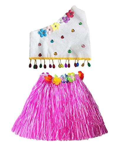 Fortuning's JDS Eco freundliche Oberteile Hawaiian Gras Rock Modenschau Kostüm Set für Mädchen