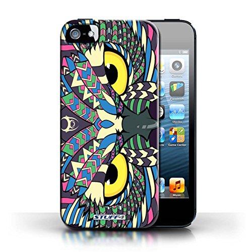 Etui / Coque pour Apple iPhone 5/5S / Loup-Couleur conception / Collection de Motif Animaux Aztec Hibou-Couleur