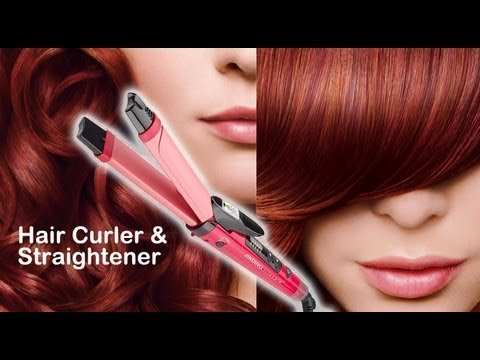 First 4 Nova Nhc 990 2 In 1 Hair Curler Straightner (Pink)