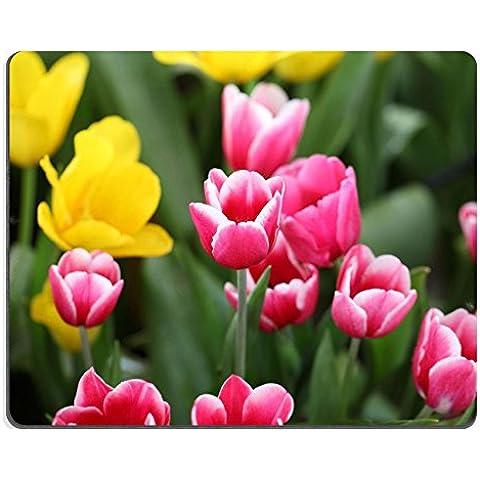 Luxlady Gaming Mousepad in gomma naturale colorato fiori di primavera tulipani Immagine ID 25988540