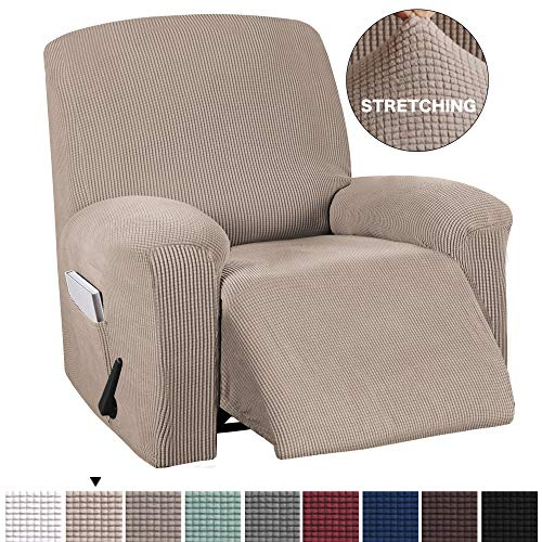 BellaHills Verstellbarer Sofabezug 1-teilig, rutschfest, weich, hochelastisch, Lycra-Jacquard, Schonbezug, formschlüssig, Möbelbezug Verstellbarer Sofabezug, maschinenwaschbar - Sand