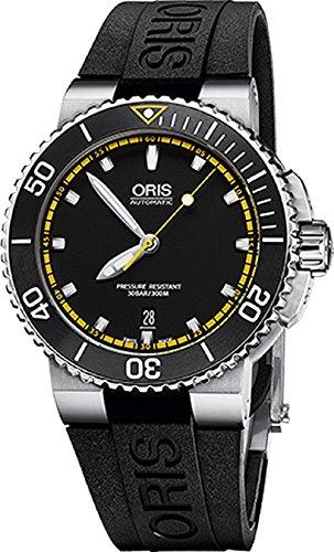 Oris Aquis Herren Datum 42mm Automatische schwarz Face schwarz Rubber Strap Schweizer...