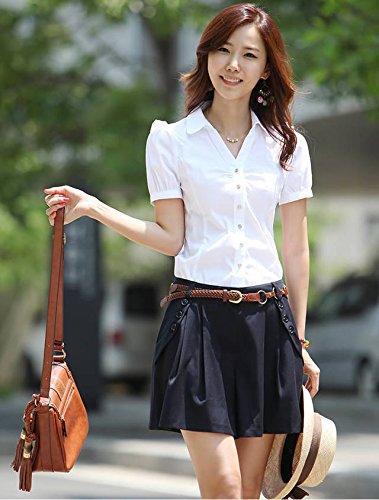Minetom Femme Short Casual Courte Evasee Extensible Tennis Sport Mini Jupe Pantalons Courts Nouveau Bleu