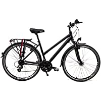 "28"" Zoll Alu MIFA Fahrrad Trekking Damen Rad Shimano 24 Gang Nabendynamo schwarz"
