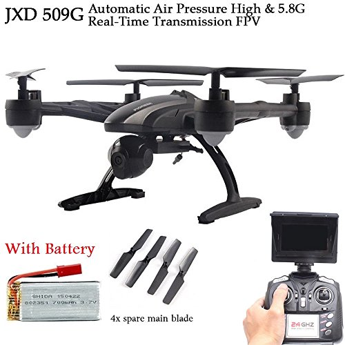 JXD 509G 5.8G FPV with 2.0MP HD Camera High Hold Mode Headless Mode One Key Return RC Quadcopter Drone with...