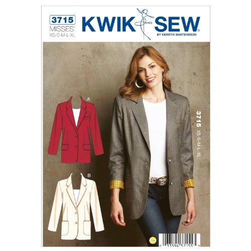 KWIK-SEW PATTERNS Blazers - XS - S - M - L - XL
