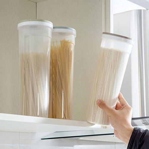 Ounona contenitore multifunzionale di plastica alimentare conserve di spaghetti contenitore di pasta custodia trasparente scatola per cereali cereali farina d'avena dadi fagioli (cachi)