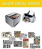 WATERSLIDE DECAL PAPER, 12 FEUILLES A4 PAPIER DE DECALQUE, IMPRESSION INKJET & LASER, BLANCHE