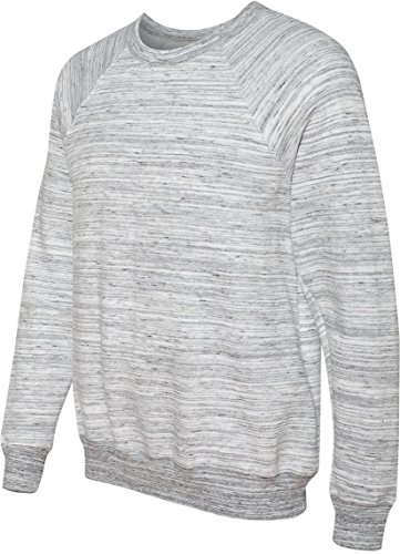 Men's tela Triblend relaxed fit-Maglione in pile, colore: nero grigio - LT GREY MARBLE