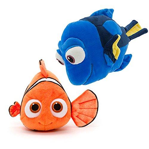 Coppia di Morbidi Peluche Disney Nemo e Dory 18 centimetri
